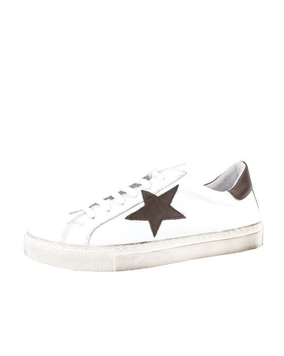 ZK Swank Cacao White Leather Sneaker