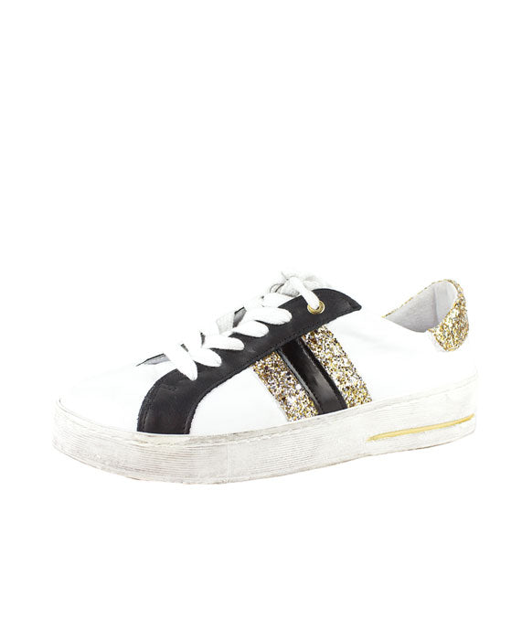 ZK Episode White Gold Glitter Sneaker