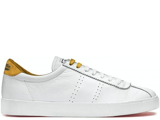 Superga 2843 White Mustard Leather Sneaker