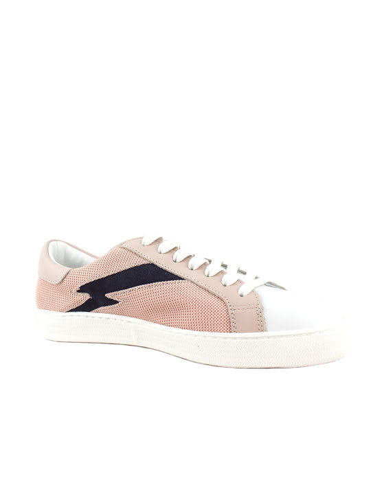 Finery Alice Pink/Black Mesh Sneaker