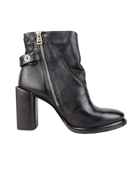 A.S.98 Serenity Black Detailed Boot