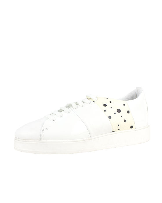 Sempre Di White Leather Sneaker