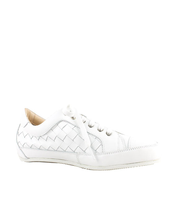 Lecologica White Plait Lace up Sneaker