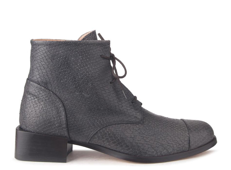 Beau Coops Annie Grey Texture Lace up Boot