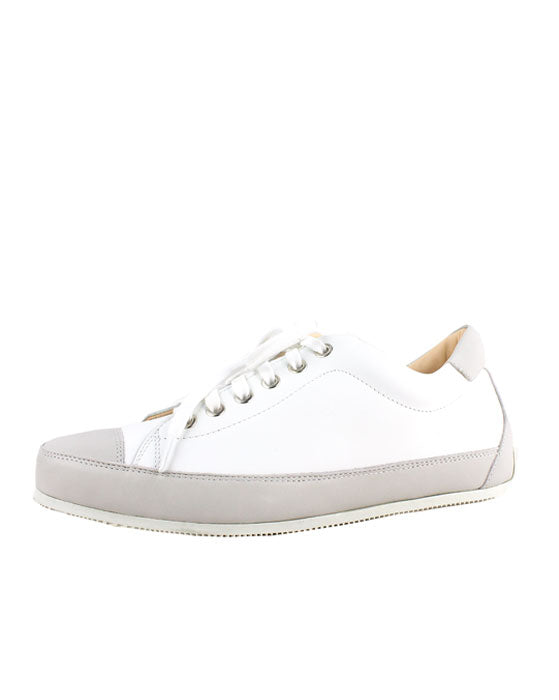Lecologica White and Grey Lace up Sneaker