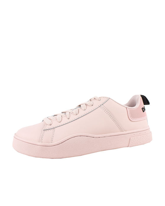 Diesel  Clever S Low Pink Leather Sneaker