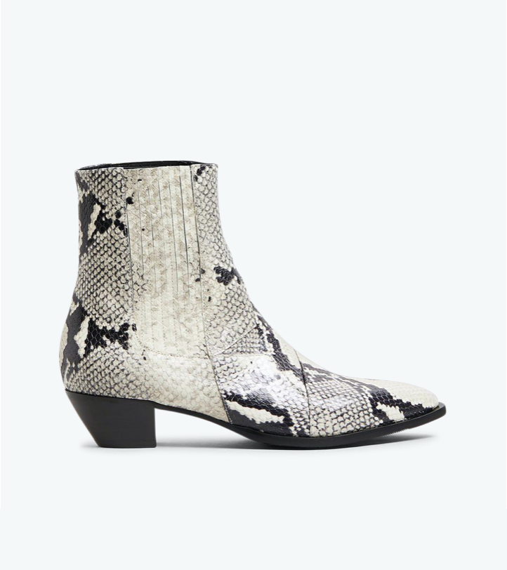 Finery Frida Snake Leather Boot