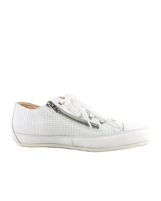 Lecologica White Weave zip Laceup Sneaker