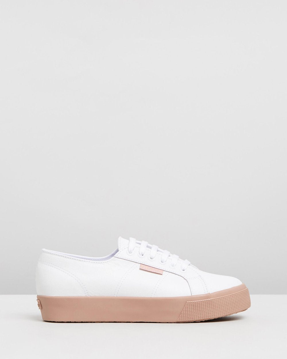 Superga White Cipria Leather Sneaker