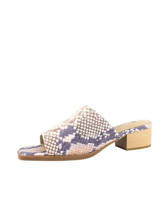 Chaos & Harmony Pink Snake Dune Mule