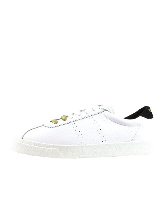 Superga 2843 White Black Leather Sneaker