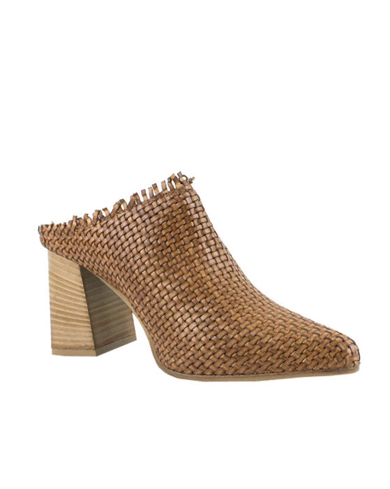 Patty Marchi Cuoio Woven Pointed Mule