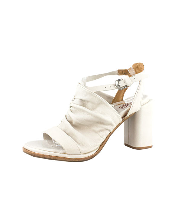 A.S.98 Bianco Leather Heel