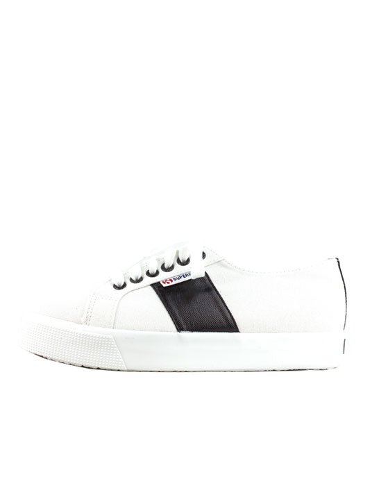 Superga 2730 White Black Eyelet Canvas Sneaker
