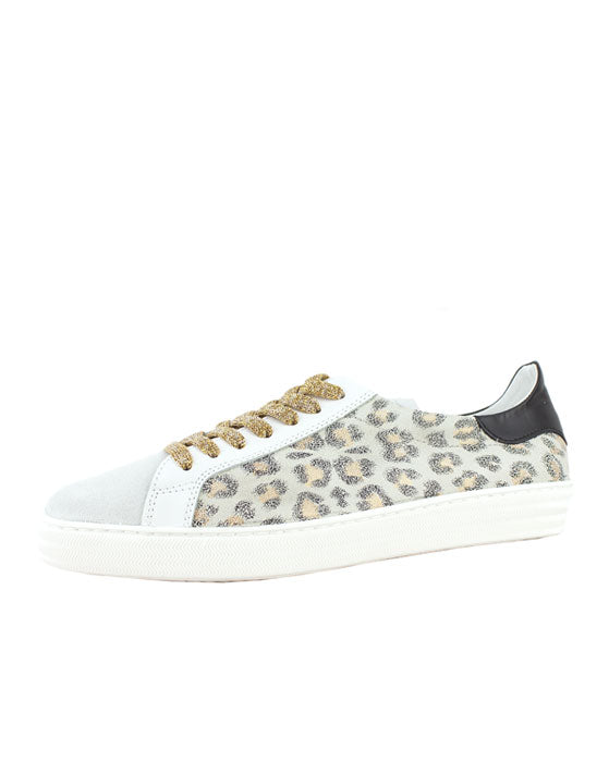 Finery Indiana White Leopard Sneaker