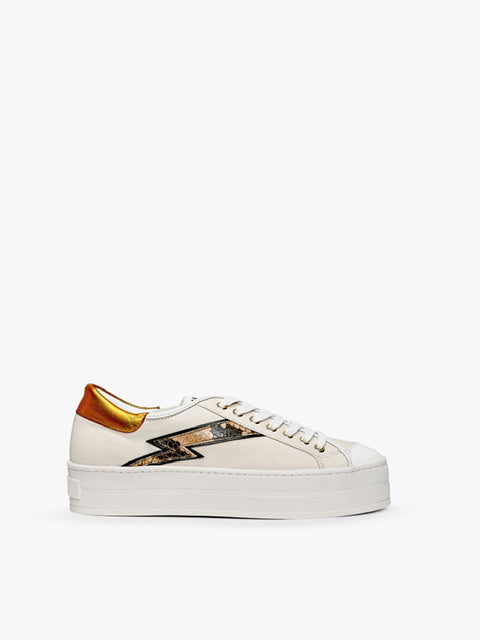Finery  Kiki Stone Almond Orange Sneaker