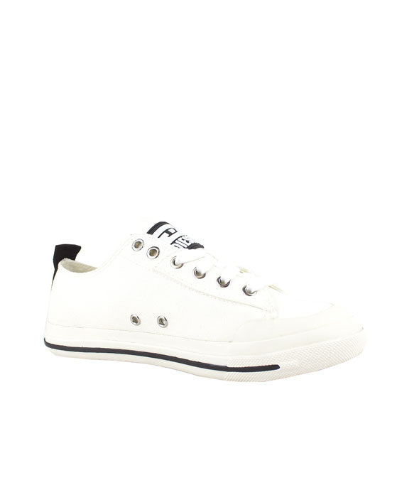 Diesel Astico Low Cut White Canvas Sneaker