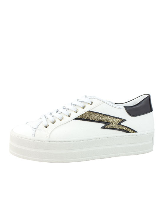 Finery Luella White Gold Sneaker