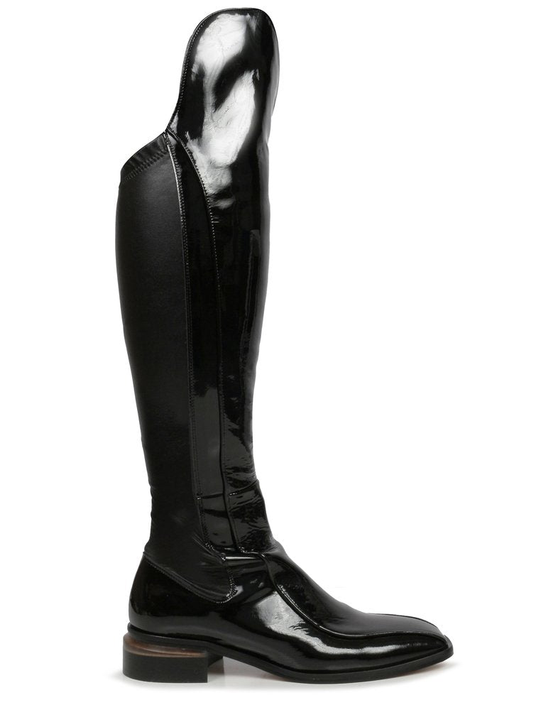 Beau Coops Charonne Over The Knee Black Patent Boot