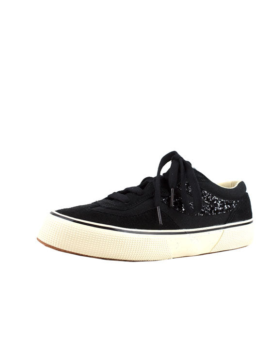 Superga Revolley Black Glitter Sneaker