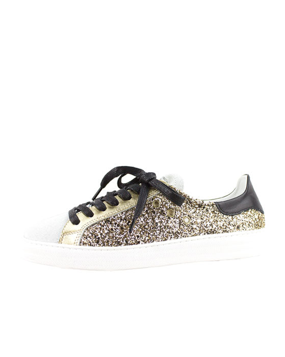 Finery Indiana Gold Glitter Sneaker