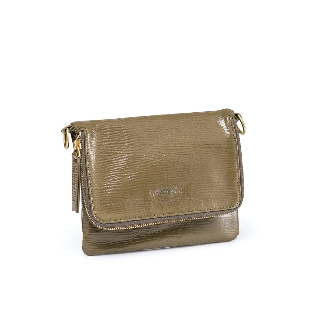 Harry & Co Bobi Khaki Sheen Bag