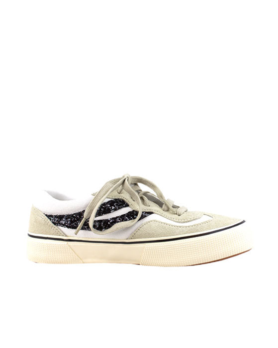Superga Revolley White Milk Glitter Sneaker