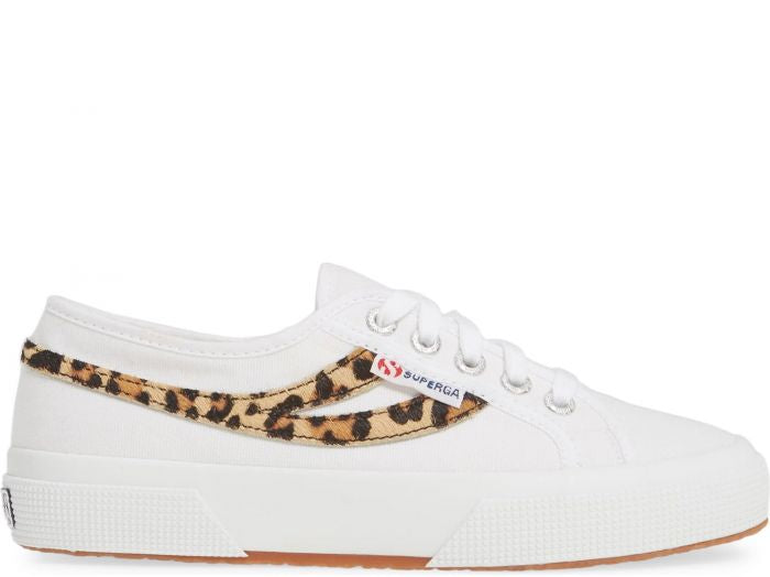 Superga White Cheetah Ponyhair Sneaker