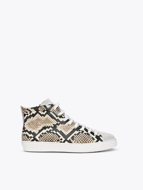 Finery Freya Snake/Lilac Hightop Sneaker