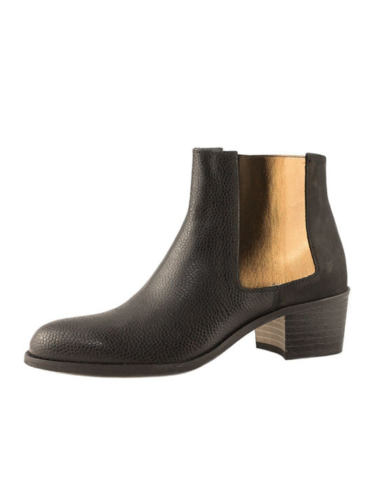 Beau  Coops Jerry Black Smooth Leather Boot