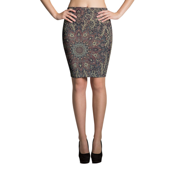 Ghiordes Pencil Skirt - KaliKut apparel