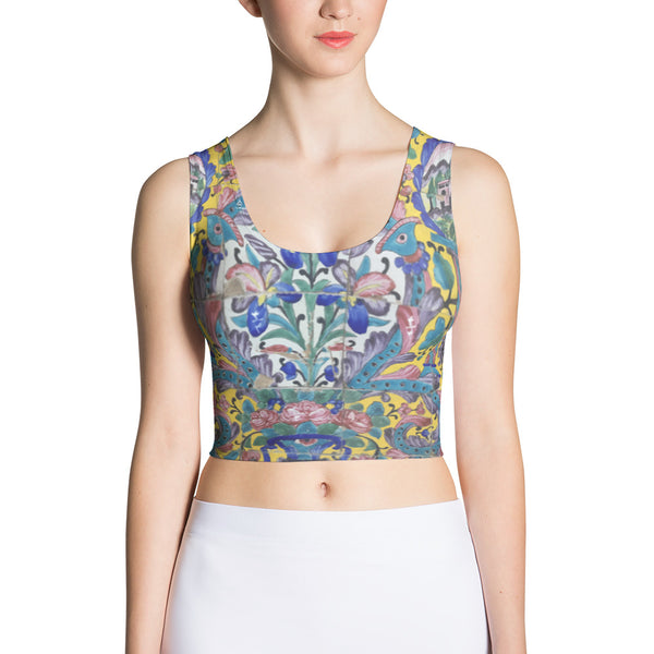 Azarbaijan Sublimation Cut & Sew Crop Top - KaliKut apparel