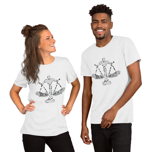 California Libra Short-Sleeve Unisex T-Shirt - KaliKut apparel