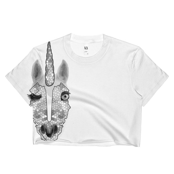 California Unicorn 1 Ladies Crop Top - KaliKut apparel