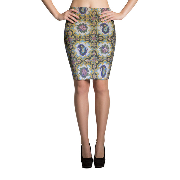Bakshaish Pencil Skirt - KaliKut apparel