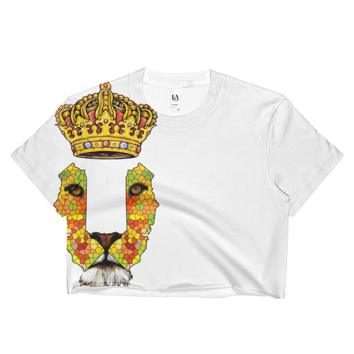 California Lion 2 Ladies Crop Top - KaliKut apparel