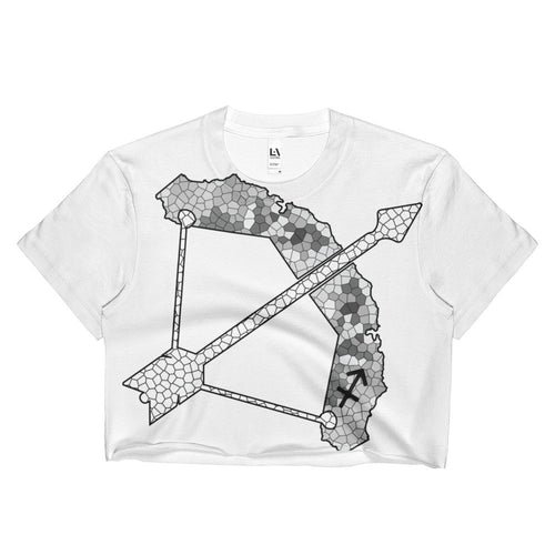 California Sagittarius zodiac sign Ladies Crop Top - KaliKut apparel