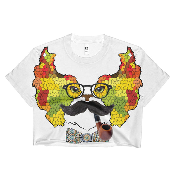 Persian Cat C Ladies Crop Top - KaliKut apparel