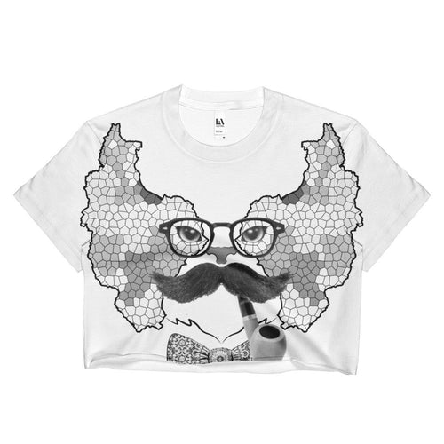 Persian Cat W Ladies Crop Top - KaliKut apparel
