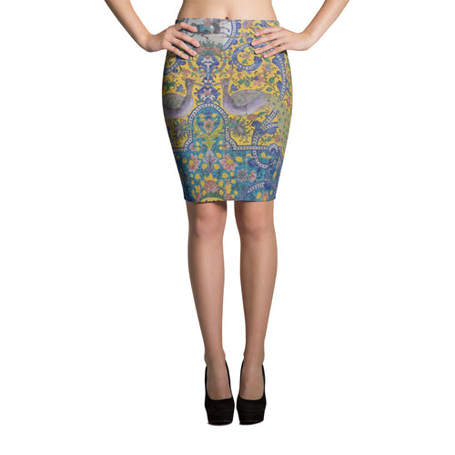Axminster Pencil Skirt - KaliKut apparel