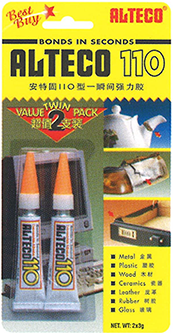 ALTECO 110 3g Super Glue Twin Pack