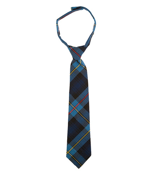 Plaid Tie, Adjustable Collar with Velcro Attachment
