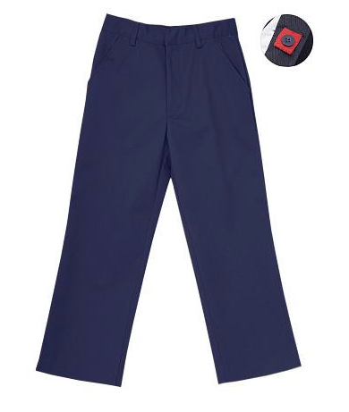 Unisex Flat Front Pants (with Adjustable Waist and Double Knees)