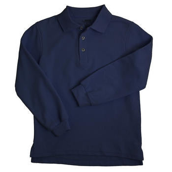 Boys Long Sleeve Polo with School Logo