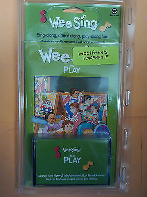 WEE SING and PLAY Vintage Music Cassette & Book SEALED Wholesome Childrens