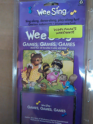 WEE SING Vintage Music Cassette & Book SEALED Wholesome Childrens Games Games