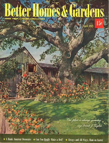 BETTER HOMES AND GARDENS MAGAZINE APRIL 1942