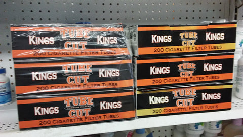 6x Boxes ( Gambler Tube Cut Kings ) Filter Cigarette Tube 200 Tubes Per Box