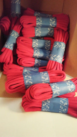 "( Lot of 28 ) 54"" Length Red Oval shoestring shoelaces shoe string laces"