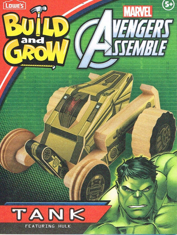 Lowe's Build and Grow HULK TANK  Avengers Kit  SEALED